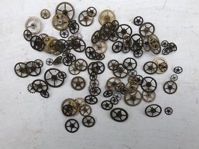 ASSORTED VINTAGE ANTIQUE WATCH CLOCK WHEELS GEARS & COGS 18mm SPARES STEAMPUNK