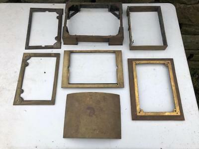 Vintage Antique Large Brass Mantle Bracket Clock Case Parts For Repair Or Spares