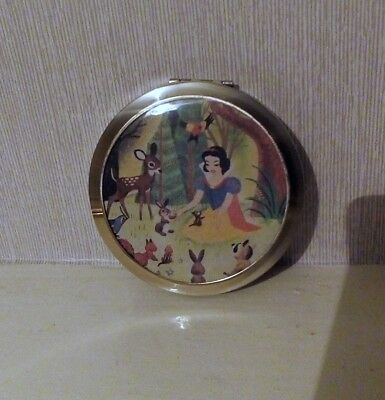 Vintage Snow White Powder Compact.