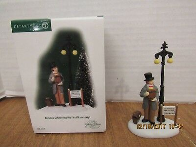 Dept 56 Dickens Village 2005 Dickens Submitting His First Manuscript #56.58428