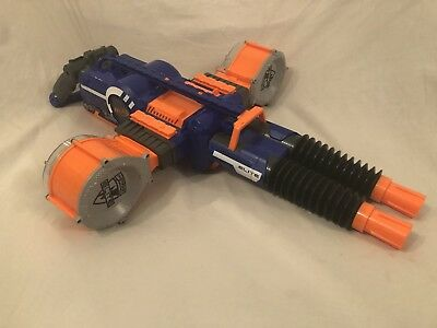 Nerf N-strike Elite Rhino Fire Blaster Blue With 2 25 Dart Drums