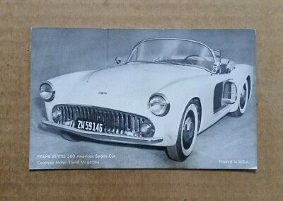 Frank Kurtis 500,Sports Car,Arcade Card,1955
