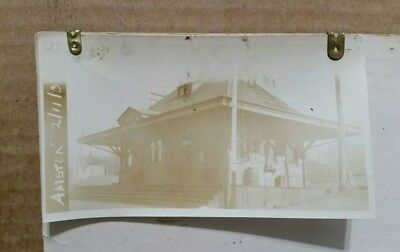 Railroad Station,Amston,Conn.,VINTAGE Photo,Feb.11,1930