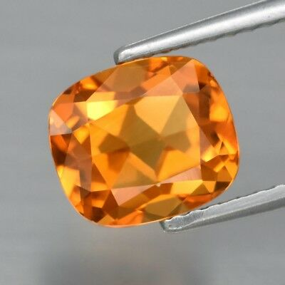 1.79ct 8x7mm IF Clean Cushion Natural Yellow Citrine, Brazil
