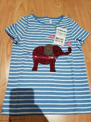 Jojo maman bebe Aged 6 girls Sequined Elephant T-shirt BNWT