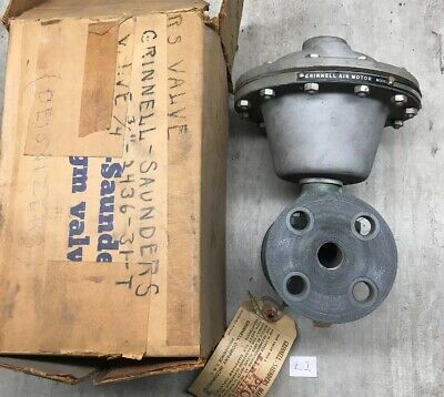 """NEW! Grinnell Dia-flo Iron Flanged Air Motor D12-1-D w/ Valve 3/4"""" FAST SHIPPING"""