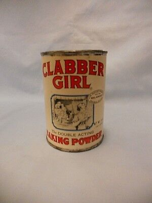 Clabber Girl Baking Powder Tin 10 oz. With Lid & Label
