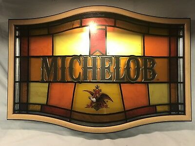 Michelob Faux Stained Glass Beer Sign
