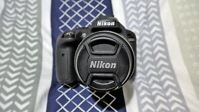 NIKON D3300 Camera cw AF 18-55mm 3.5 5.6 G11 ED lens and Rubber Body Protector.