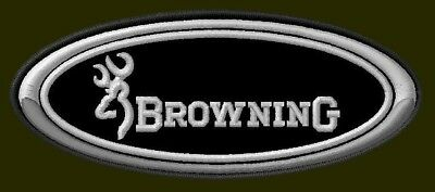 """BROWNING EMBROIDERED PATCH ~4-1/4"""" x 1-3/4"""" RIFLE CARBINE WEAPON PISTOL ARMS GUN"""