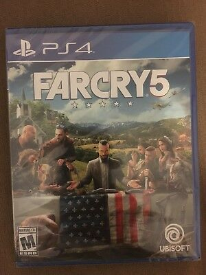 Far Cry 5  (Sony Playstation 4 PS4, 2018) Brand New Factory Sealed