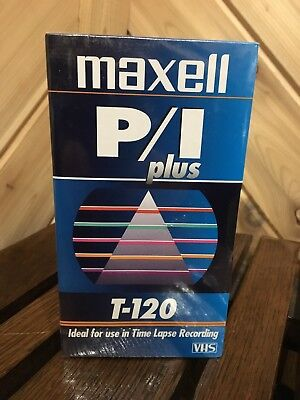 LOT of 12 NEW Maxwell VHS Tape T-120 P I Plus For Time Lapse