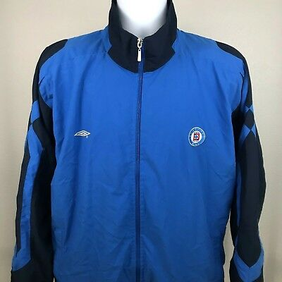 3c223501e45 Vintage Umbro Cemento Cruz Azul Full Zip Track Jacket Blue Mens Size  Medium. A1