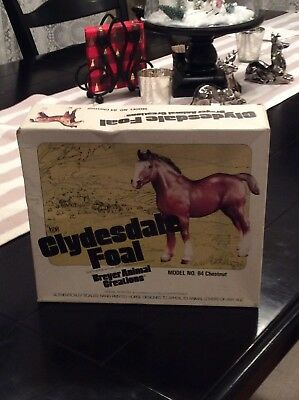 Vintage Breyer CLYDESDALE FOAL Draft Horse Traditional Size Model Horse 84 Nice