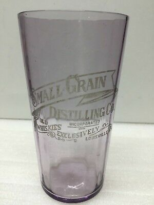 Pre Pro Etched Small Grain Distilling Co. Fluted Glass - Purple - Louisville, KY