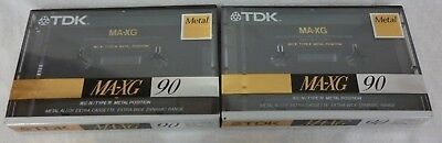 2 x TDK MA-GX90N Type IV Cassette Tapes - Brand New