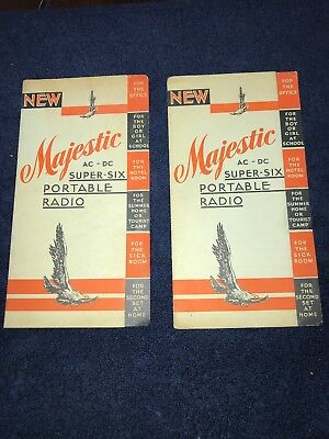 1920's 30's Majestic Super Six Portable Radio  brochure Grigsby-Grunow-Hinds (2)