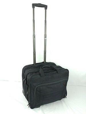Victorinox Swiss Army Rolling Wheeled Carry On Travel Bag Business Expandable