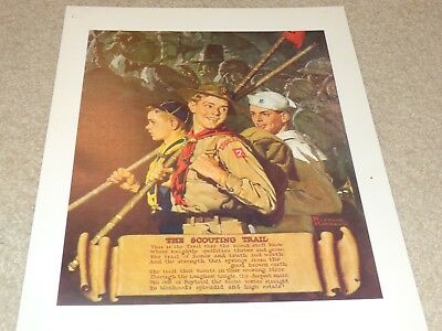 Boy Scout Norman Rockwell The Scouting Trail Sea Explorer Cub BSA 11 x 14 Print