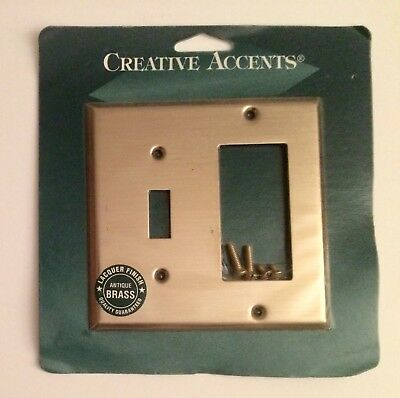 Creative Accents Antique Brass Rocker & Toggle Light Switch Wall Plate Cover