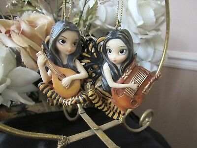 STRANGELING LUTE or LYRE FAIRY ORNAMENT FIGURINE JASMINE BECKET-GRIFFITH PICK 1