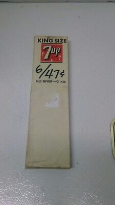 Vintage 1960's 7Up Cola Soda Advertising Price Card Tags For 6 Pack Carton