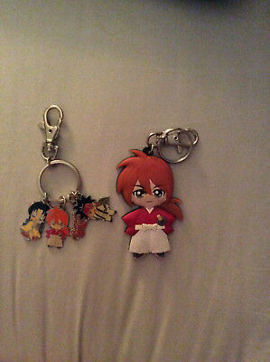 Rurouni Kenshin lot of 2 keychains
