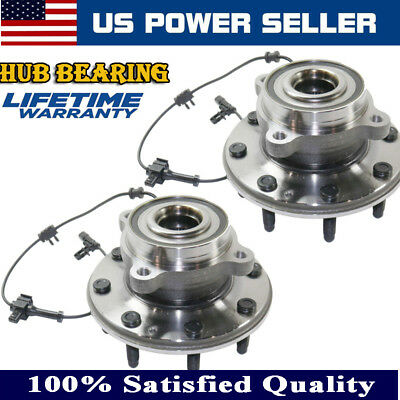 Front Wheel Bearing & Hub Assembly For 2011-2016 GMC SIERRA 2500HD 3500HD Set