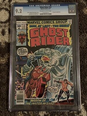 Ghost Rider #23 9.2 CGC WOW! Marvel Comics 4/77 Champions app, No Reserve!!!
