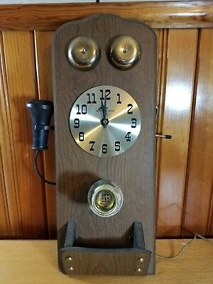 Vintage Sessions Electric Phone Wall Clock - Working Condition.