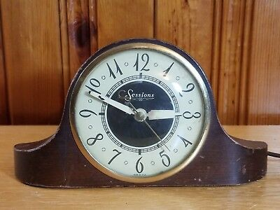 Sessions Mantle Clock Model 3W Self Starting Works Great
