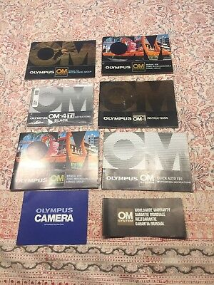 Olympus OM Camera System Lot Of Instructions Manuals And Miscellaneous Paper