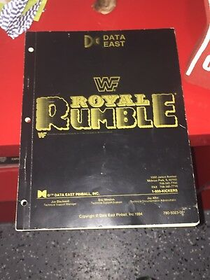 WWF WWE ROYAL RUMBLE By DATA EAST 1994 PINBALL MACHINE SERVICE REPAIR MANUAL