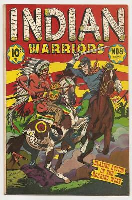 Indian Warriors No. 8 Sept. 1951 Star Publications VG+ L.B. Cole Cover, Mohicans