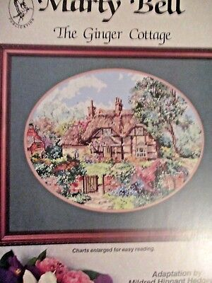 The Ginger Cottage Marty Bell cross stitch pattern FREE SHIP Pegasus leaflet