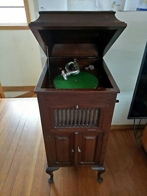 1925 Rexonola Grand Antique Gramophone 78rpm Record Player Made in Switzerland