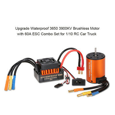 900W 3650 3900KV Waterproof  Brushless Motor With 60A ESC Set For 1/10 Car Truck