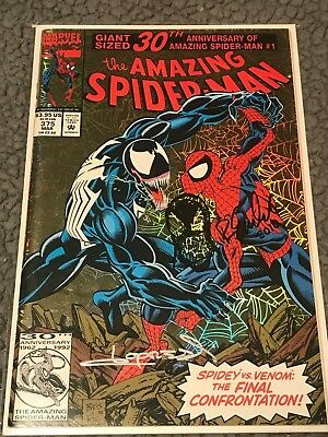 Amazing Spider-Man #375  Loprestri signed and REMARK by Emberlin  hologram cover