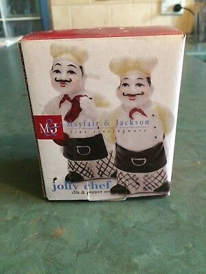 "Mayfair & Jackson ""Jolly Chef"" Salt and Pepper Shakers"
