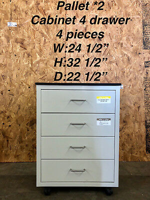 Hamilton 4 Drawer Rolling Lab Cabinet Casework with Attached Epoxy Chem Top