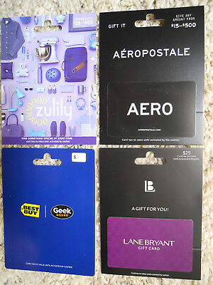 Collectible Gift Cards, new, unused, with card backing, no value on cards (ZB)