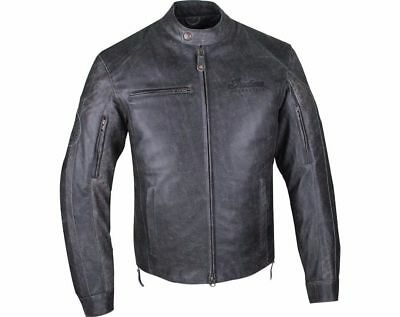 Nwt Mens Indian Motorcycle Hedstrom Black Leather Protective Riding Jacket Sz S