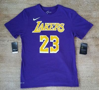 35dd5aac9 Nwt 2018 19 Nike Los Angeles Lakers Lebron James Icon Edition Dri-Fit Shirt
