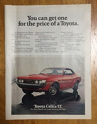 1972 TOYOTA CELICA ST magazine advertisement, full page