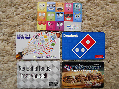 Collectible Gift Cards, five new cards, no value on cards             (ZD)