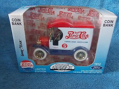New Pepsi Cola Limited Edition Coin Bank By Gearbox 1912 Ford Delivery Car