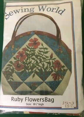 Ruby Flowers Bag Pattern (Kit) incl fabric