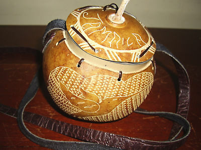 Unique Beautifully Handcrafted Gourd Cross Body Purse Jamaica