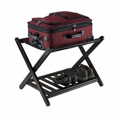 Wood Luggage Rack Folding Stand Shelf Suitcase Bag Storage Holder Travel Hotel