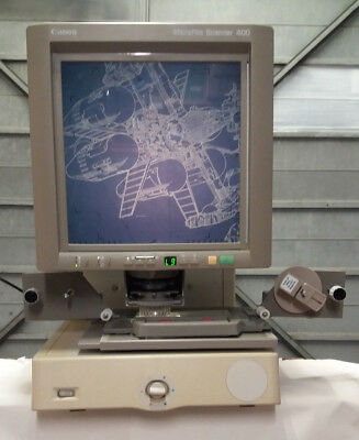 Canon MS400 Microfilm Scanner c/w Motorised Universal carrier,computer & Monitor